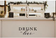 Cocktail Bar with Personality - Show your p e r s o n a l i t y! x This was one of the concepts I was MOST excited to see come to l - Wedding Reception, Our Wedding, Wedding Venues, Dream Wedding, Open Bar Wedding, Trendy Wedding, Destination Wedding, Wedding Goals, Wedding Planning
