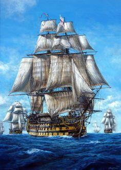 Poder Naval, Bateau Pirate, Hms Victory, Old Sailing Ships, Pirate Art, Sailboat Painting, Ship Drawing, Ghost Ship, Ship Paintings