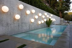 El molino pool and light installation by Anthony Exter