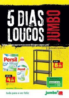 Promoções Jumbo - Antevisão Folheto 5 dias loucos - 27 abril a 1 maio - http://parapoupar.com/promocoes-jumbo-antevisao-folheto-5-dias-loucos-27-abril-a-1-maio/