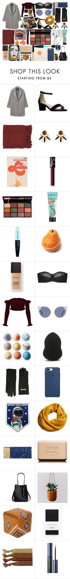 """""""A hint of rose and a smile..."""" by andreab6 ❤ liked on Polyvore featuring MANGO, J. Adams, Surya, Henri Bendel, CO, NARS Cosmetics, NYX, Benefit, L'Oréal Paris and Laura Mercier"""