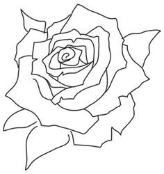New embroidery rose pattern urban threads Ideas Paper Embroidery, Rose Embroidery, Hand Embroidery Designs, Applique Designs, Embroidery Patterns, Colouring Pages, Coloring Books, Urban Threads, Blooming Rose