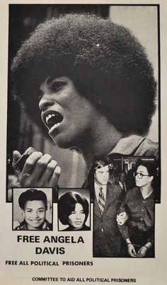 """The most reproduced photograph of Angela was the one of her holding a microphone at a rally in the spring on 1970. It was reproduced on page 24 of a """"Life"""" magazine cover-story article, published on September 11, 1970, and titled """"The Making of a Fugitive."""" The photographer is unknown."""