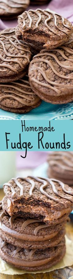 Rich chocolate sandwich cookies filled with a silky chocolate filling — these homemade fudge rounds are far better than store bought!