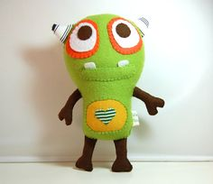 Igor The Eco Friendly Monster Plush Toy / Stuffed Toy by vivikas, $26.00