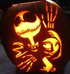 Cool Pumpkin Carving #jack, nightmare before christmas | stuff for ...