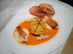 Crab Ravioli, Bisque with White Asparagus - Fine Dining Recipes | Food Blog | Restaurant Reviews | Fine Dining At Home