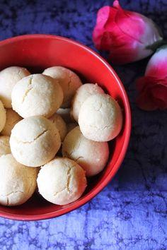 Ghee Cookies / Eggless Ghee Biscuits - Just 4 Ingredients - Yummy Tummy Oat Cookie Recipe, Butter Cookies Recipe, Biscuit Recipe, Cookie Recipes, Dessert Recipes, Desserts, Rice Flour Cookies, Oat Cookies, Cookies Ingredients