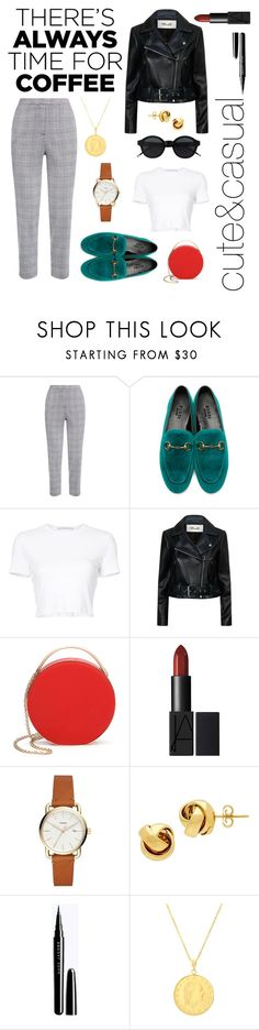 """""""Coffee, cute and casual"""" by manifesto97 ❤ liked on Polyvore featuring Gucci, Rosetta Getty, Diane Von Furstenberg, 3.1 Phillip Lim, Lord & Taylor, Sphera and CoffeeDate"""
