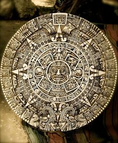 The Aztec calendar stone is a late post-classic Mexica sculpture housed in the National Anthropology Museum in Mexico City. Ancient Aliens, Ancient Art, Ancient History, Mayan Tattoos, Aztec Calendar, Calendar Wall, Aztec Culture, Aztec Warrior, Aztec Art