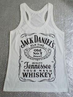 Vintage Style Women Jack Daniel's Tennessee Whiskey Tank Top Singlet T-Shirt #05