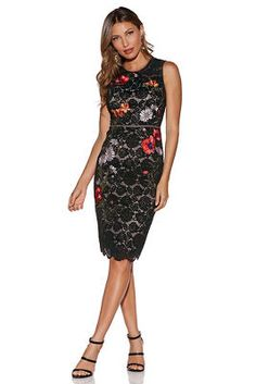Floral embroidered lace dress from Boston Proper Funky Outfits cf38d0a49