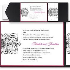 Avant Garde - Layered Pocket Invitation Pocket Invitation, Pocket Wedding Invitations, Unique Invitations, Invitation Cards, Invites, Black And White Wedding Invitations, Traditional Wedding Invitations, Swirl Design, Branding Design