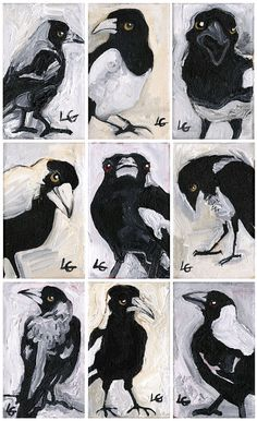 Items similar to Feral State Magpie Giclee Print on Etsy Magpie, Giclee Print, Trending Outfits, Unique Jewelry, Handmade Gifts, Shop, Etsy, Vintage, Kid Craft Gifts