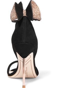 Sophia Webster - Maya Bow-embellished Suede Sandals - Black - IT