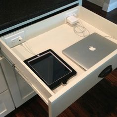 Would like office storage (poss for bedroom & kitchen too) to have in drawer charging stations.