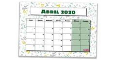 21 Ideas De Calendario 2020 Calendario Plantilla Calendario Calendario Mensual Para Imprimir
