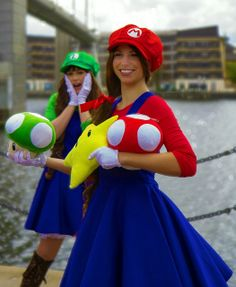 Find this Pin and more on Less-Flesh More-Costume Cosplay. Female Mario and Luigi costumes from Super ...  sc 1 st  Pinterest & Super mario bros costume | Holidays | Pinterest | Super mario bros ...