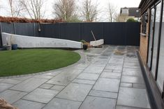 Clothall Common clients' garden almost finished and ready for spring planting..
