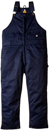 Berne Men's Big-Tall Deluxe Twill Insulated Bib Overall, Navy, 4X-Large/Regular