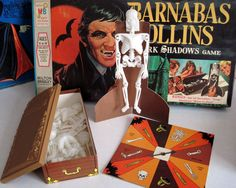 The second of two different board games based on the popular television show, Barnabas Collins Dark Shadows Game was released in Asid. Childhood Games, Childhood Memories, Barnabas Collins, Dark Shadows Tv Show, Vintage Board Games, Vintage Toys, Vintage Stuff, Back In The Day, Vintage Halloween