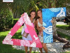 Pretty pink and blue paisley letter print DG Delta Gamma