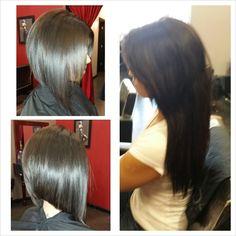 Angle Bob. Bob Hair Cut. Short Hair Styles.