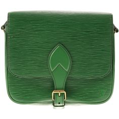 Pre-owned Cartouchière GM in EPI leather Borneo green ($730) ❤ liked on Polyvore featuring bags, handbags, shoulder bags, green, louis vuitton purses, over the shoulder bag, leather handbags, louis vuitton shoulder bag and leather belt
