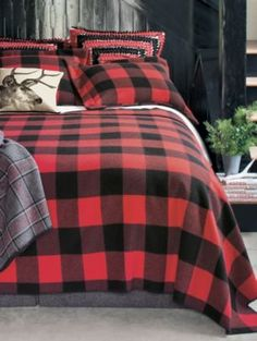From the Pendleton Website, Buffalo Plaid Wool Blanket