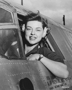 Elizabeth L. Gardner WASP pilot during WWII Harlingen Army Air Field Texas.