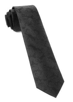 The Tie Bar: Refinado Floral Ties Black In. Regular Length - 58 In. Traditional Jacket, Groom Ties, Boys Ties, Collar Stays, Tied Shirt, Athletic Fashion