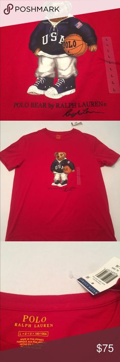 NWT POLO BEAR T SHIRT RALPH LAUREN NEW WITH TAGS Brand new with tags. Shipping same or next business day. Polo by Ralph Lauren Shirts Tees - Short Sleeve