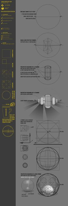 Cylinders drawn in 2 Point Perspective Perspective Study 37CW part2 by JustIRaziel