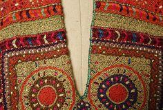 Palestinian wedding dress, cotton, silk, 1930's