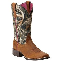 Ariat Women's Camo Quickdraw Western Boots