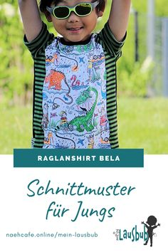 Das Raglanshirt besticht durch eine Bauchtasche und Bündchen. Kostenloses Add-On für Bauchtasche und Kurzarm erhätlich! Raglan, Arm, Sew Mama Sew, Fanny Pack, Tops, Fabrics, Sewing Patterns, Guys, Arms