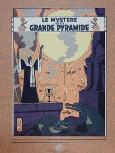 Jacobs, E. P. - Zeefdruk Archives Internationales - Le Mystère de la Grande Pyramide 2 - (1994) - W.B.