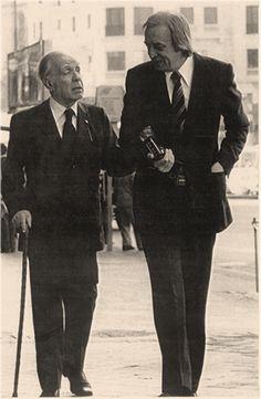 Borges todo el año: Jorge Luis Borges: Sobre la democracia y las elecciones. En la foto Borges con Esteban Peicovich