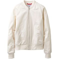 UNIQLO white bomber jacket (so much want i'm gonna die)