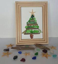 Oh Christmas Tree by SeaglassArtNS on Etsy $75.00 Free Shipping #seaglass #christmas #driftwood #art #seaglassart #homedecor #christmastree #driftwood #beachart #beachlover #sealife #sea #treasures #pebbleart