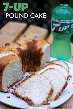 Are you a fan of pound cake? This 7-Up Pound Cake is really dense yet incredibly moist, making it an automatic crowd pleaser! So yummy!   Featured on The Best Blog Recipes