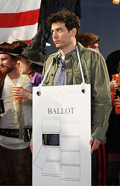 Pin for Later: The Best TV Character Halloween Costumes How I Met Your Mother: Ted Ted rocks his tried-and-true hanging Chad costume for Halloween.