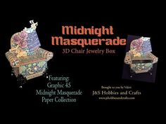 (114) Midnight Masquerade Chair by Valeri at J and S Hobbies and Crafts - YouTube