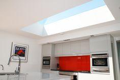 Internal frameless look of the EOS rooflights