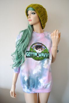 Gettin' Wavvy Cat Dye Jumper by vfever on Etsy, $47.00