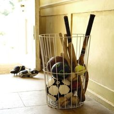 Bat and ball basket from Great Little Trading Company