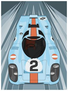 Stuttgart Legend by Marco FabroThe Porsche single handedly put Porsche on the map as a racing powerhouse. I created this this illustration of this amazing race car as a big fan of the car and the livery. Race Car Party, Race Cars, Bus Life, Festival Of Speed, Car Illustration, Amazing Race, Rafting, Porsche, Art Prints