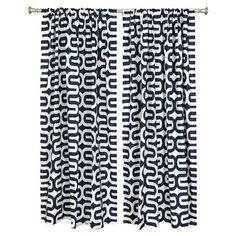 "The Pillow Collection Geometric Blackout Rod Pocket Curtain Panels Size: 50"" W x 108"" L"