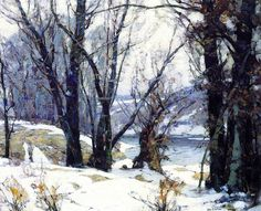 John fabian Carlson, Winter Willows, oil