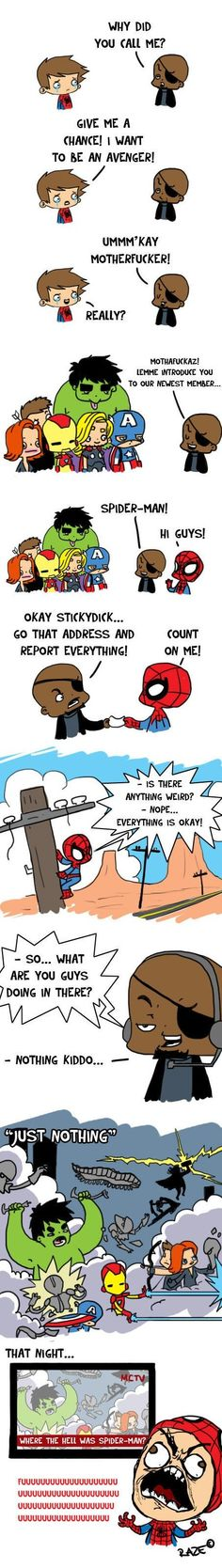 Funny - Avengers and Spiderman - www.funny-pictures-blog.com